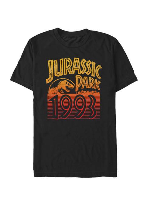 Jurassic Park Vintage Sunset Logo 93 Short Sleeve