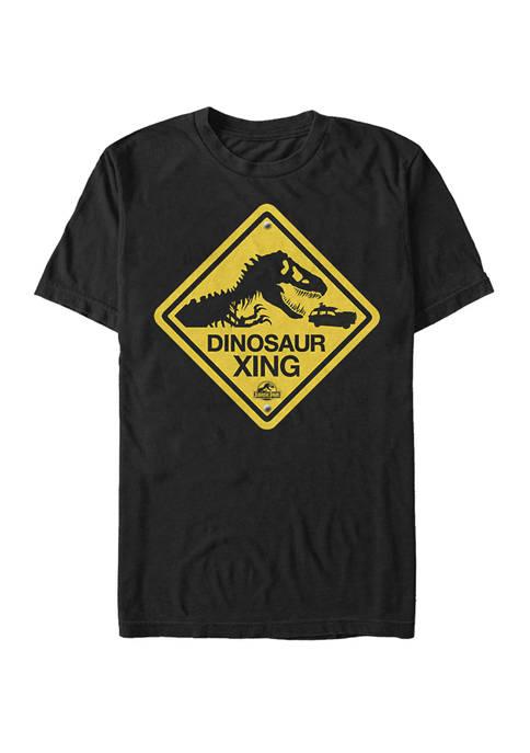 Jurassic Park Big & Tall Dinosaur Crossing Sign