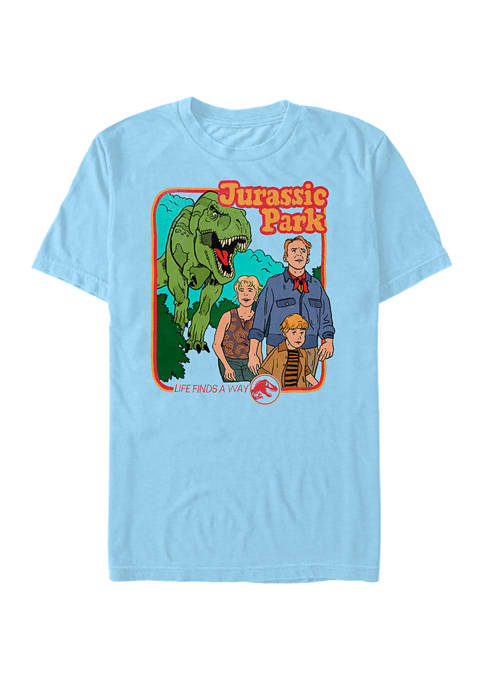 Jurassic Park Vintage Characters Life Finds A Way
