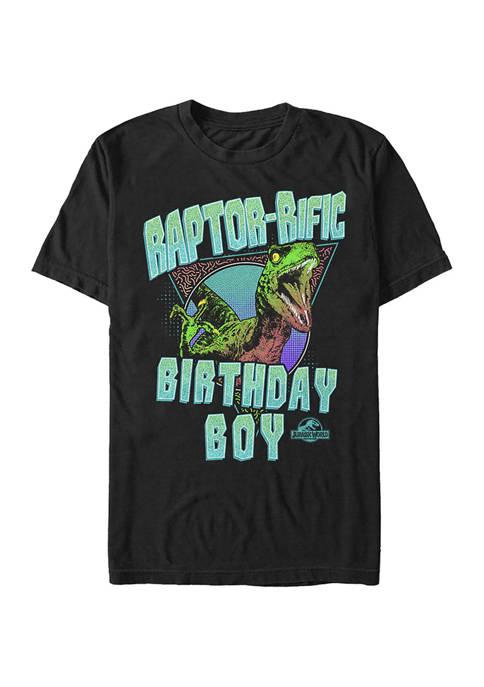 Jurassic World Raptor Rific Bday Boy Graphic Short