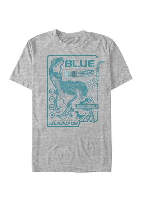 Jurassic World Raptor Blue Print Graphic Short Sleeve