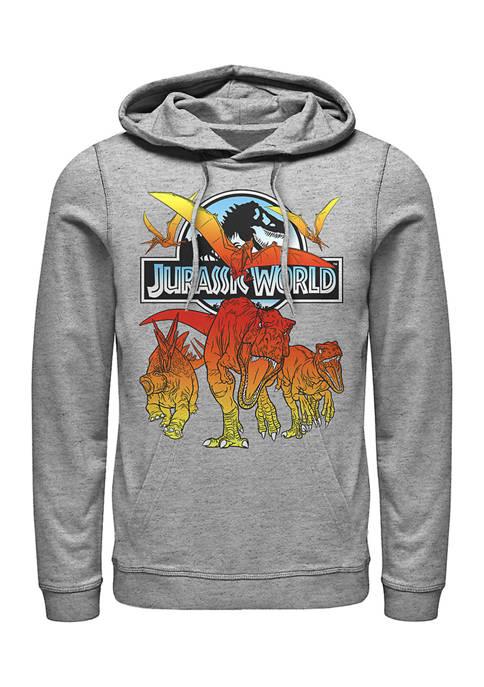 Jurassic World Hot Shots Graphic Fleece Hoodie