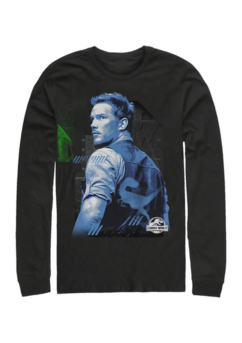 Miss Me Blue Graphic Long Sleeve T-Shirt