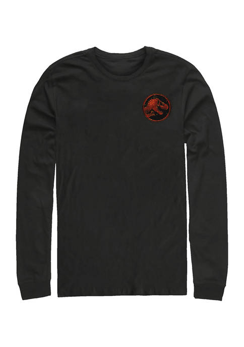 Jurassic World Magma Pocket Graphic Long Sleeve T-Shirt