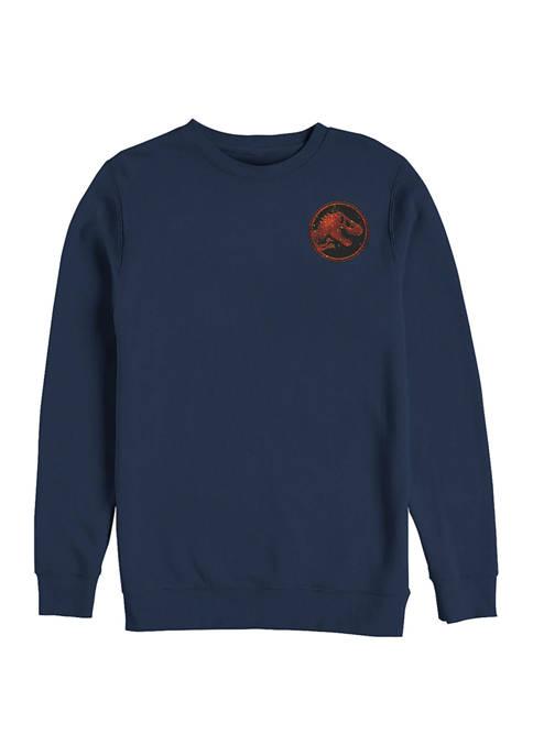 Jurassic World Magma Pocket Graphic Crew Fleece Sweatshirt