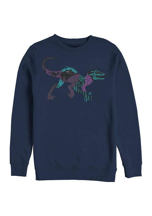 Jurassic World DNA Raptor Crew Fleece Graphic Sweatshirt