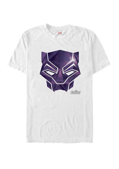 The Avengers Infinity War Black Panther Diamonds Short Sleeve T-Shirt