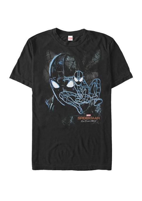 Spider Man Far From Home Dark Spider Man Short Sleeve T-Shirt