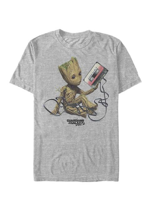 Little Groot Mixtape Mess Short Sleeve Graphic T-Shirt