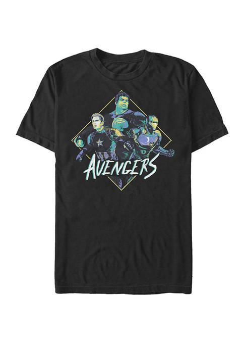 The Avengers Endgame Retro Trio Short Sleeve Graphic T-Shirt