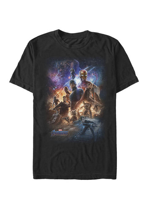 The Avengers Endgame Galaxy Movie Poster Group Shot Short Sleeve T-Shirt