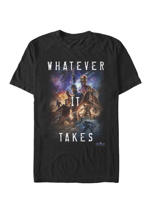 The Avengers Endgame Movie Poster Whatever It Takes Short Sleeve T-Shirt