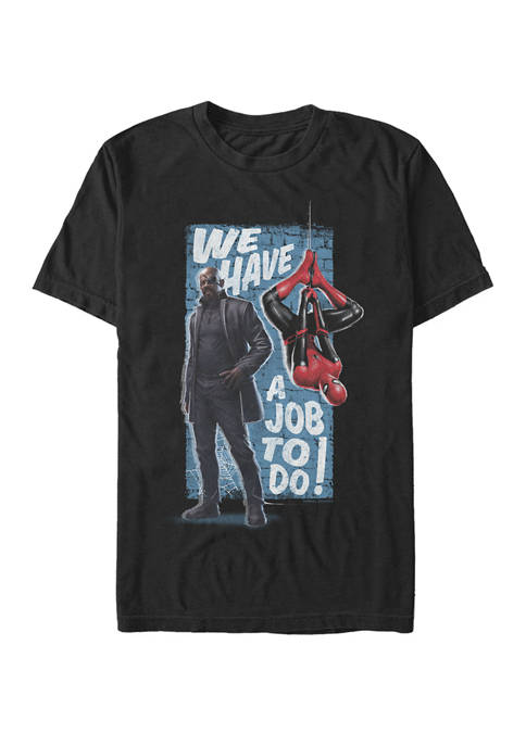 Spider Man Far From Home We Have A Job To Do Poster Short Sleeve T-Shirt