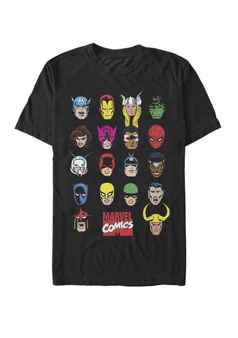 Classic Hero Portraits Short Sleeve Graphic T-Shirt