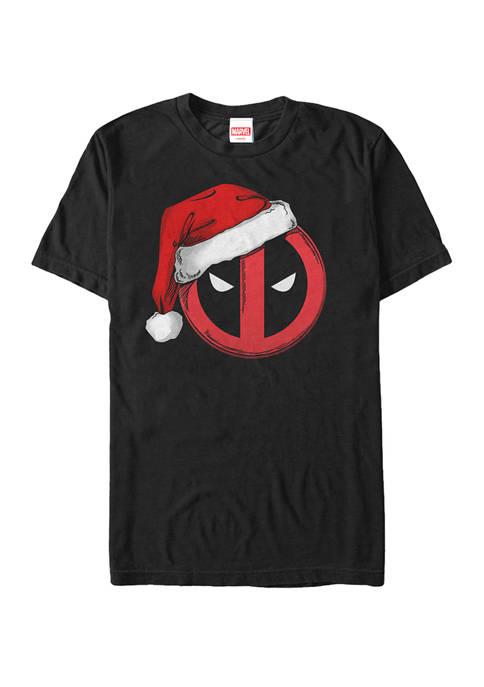 Big & Tall Deadpool Santa Hat Logo Short