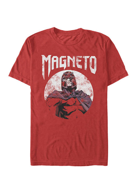 X Men Magneto Classic Distressed Portrait Short Sleeve T-Shirt
