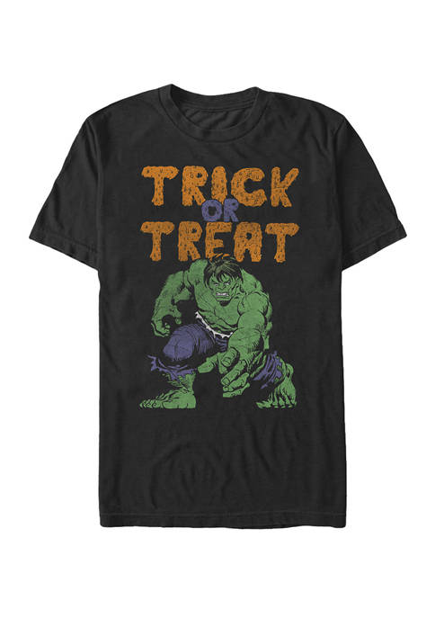 Big & Tall Hulk Trick Or Treat Halloween Short Sleeve Graphic T-Shirt