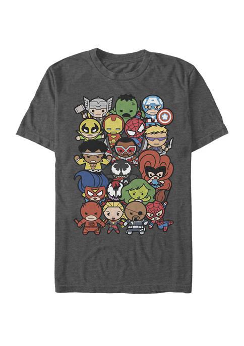 Heroes And Villains Kawaii Dogpile Short Sleeve T-Shirt