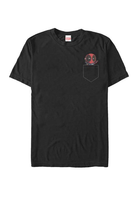 Big & Tall Deadpool Cute Pocket Buddy Short Sleeve Graphic T-Shirt