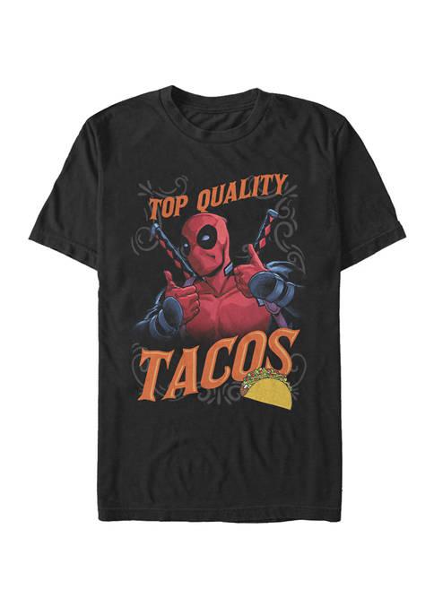 Deadpool Top Quality Tacos Short Sleeve T-Shirt