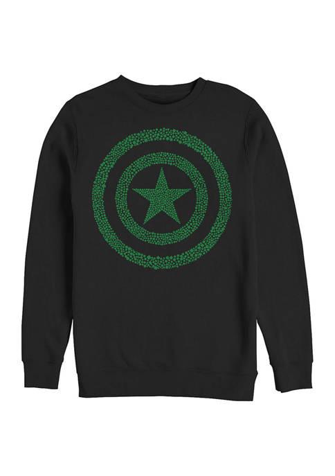 Marvel™ Marvel Clover Shield Graphic Crew Fleece Sweatshirt