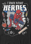 Spider Man Classic I Teach Future Heroes Short Sleeve T-Shirt