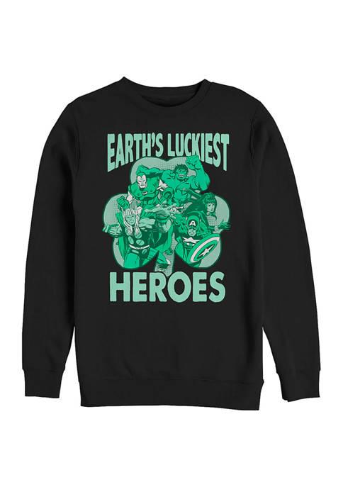 Marvel™ Luck of the Hero Graphic Crew Fleece