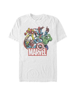 New Marvel Cast Squad Comic Book Vintage Heather Mens T-Shirt
