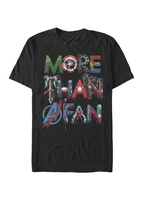 More Than a Fan Hero Wordfill Short Sleeve Graphic T-Shirt