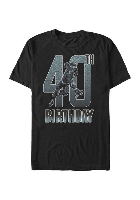 Marvel Black Panther 40th Bday Graphic Short Sleeve