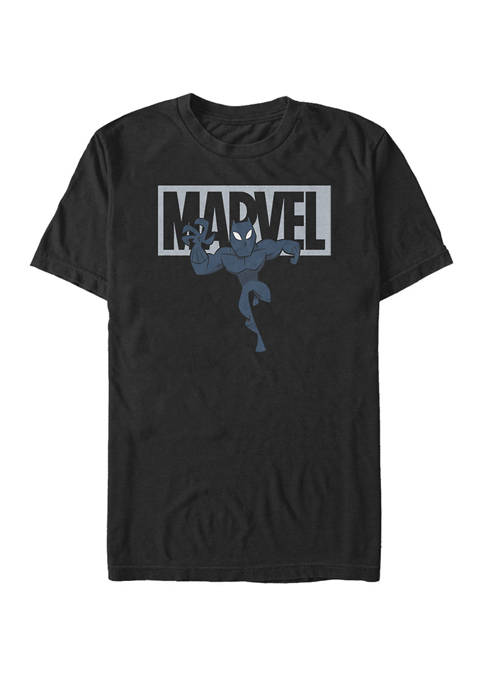 Marvel™ Black Panther Chibi Action Pose Logo Outline