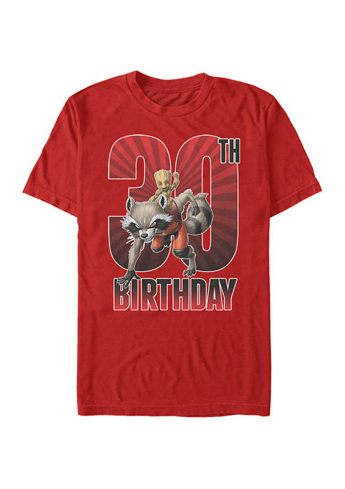 Marvel Groot 30st Bday Graphic Short Sleeve T-Shirt