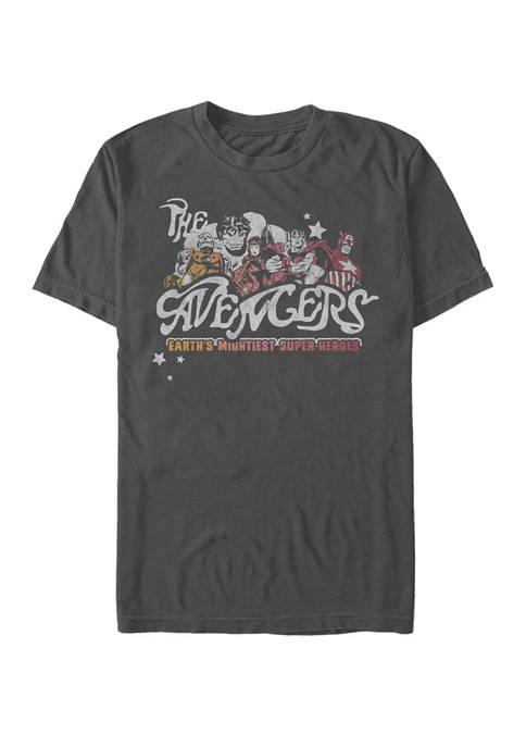 Earths Mightiest Heroes Short Sleeve T-Shirt