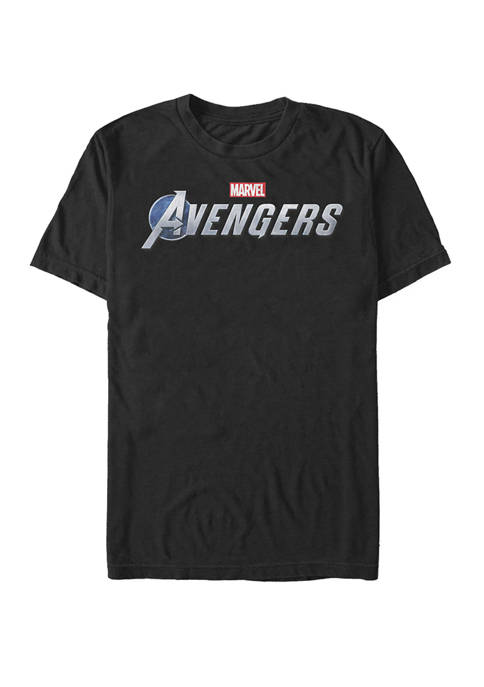 The Avengers Endgame Silver Logo Short Sleeve T-Shirt