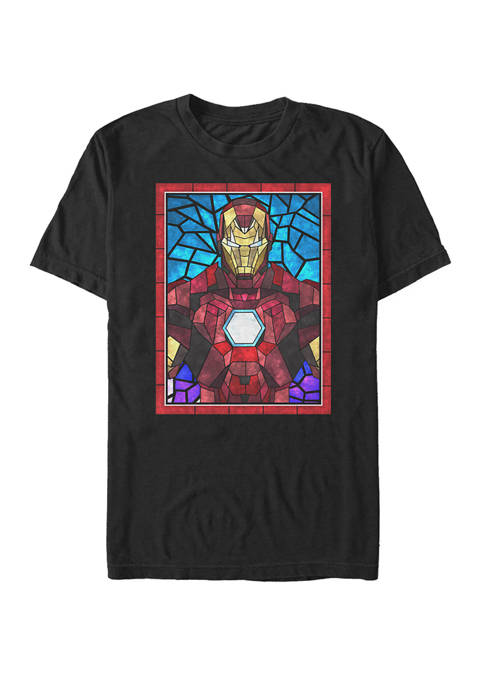 Iron Man Stained Glass Portrait Short-Sleeve T-Shirt