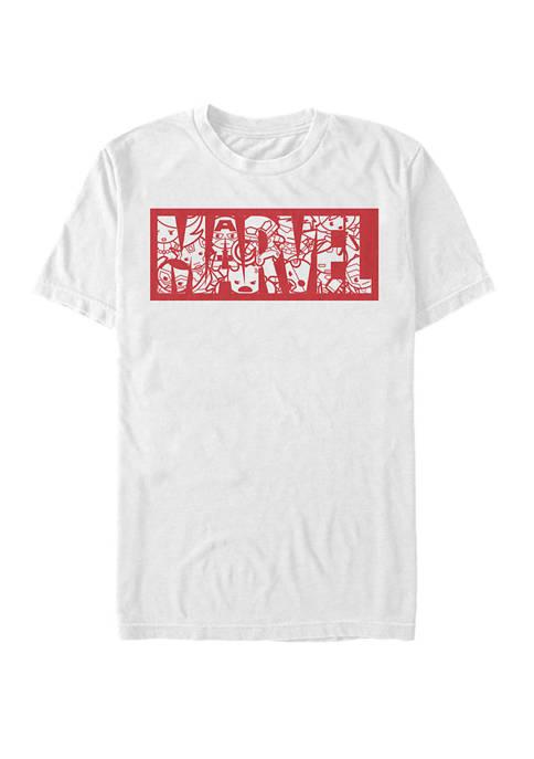Kawaii Superheroes Logo Short Sleeve Graphic T-Shirt