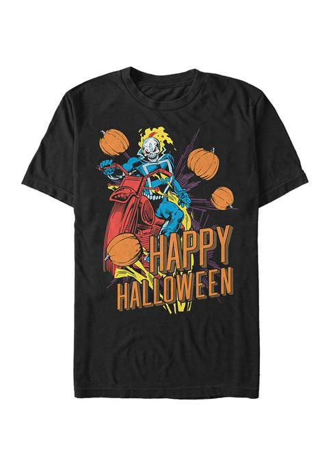 Big & Tall Ghost Rider Happy Halloween Short Sleeve Graphic T-Shirt