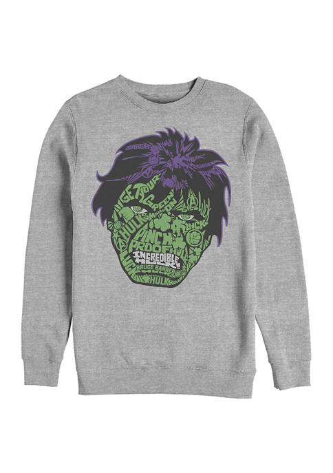 Marvel™ Marvel™ Hulk Luck Icons Face Graphic Crew