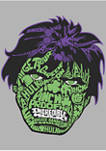 Marvel™ Hulk Luck Icons Face Graphic Fleece Hoodie