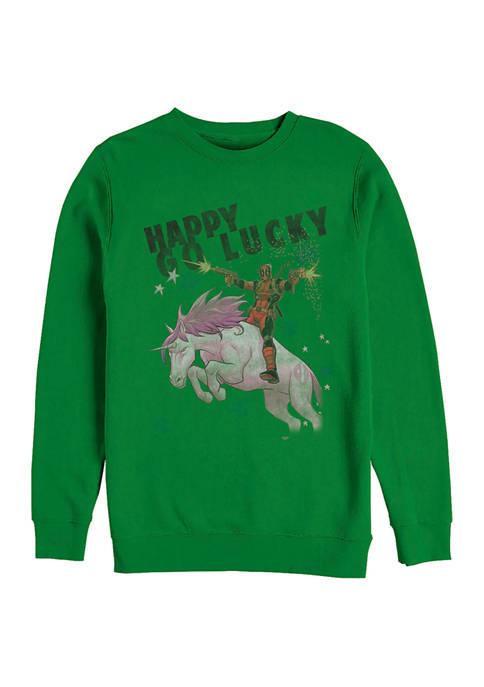 Deadpool Marvel™ Charm Lucky Graphic Crew Fleece Sweatshirt