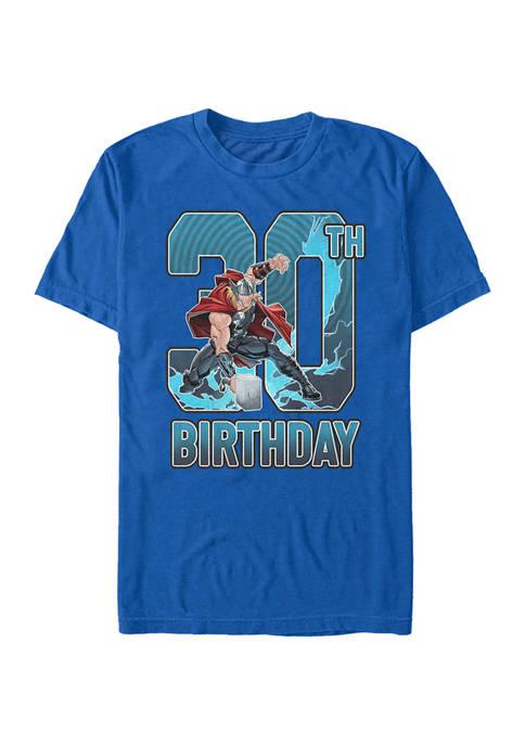 Marvel™ Thor 30th Bday Graphic Short Sleeve T-Shirt