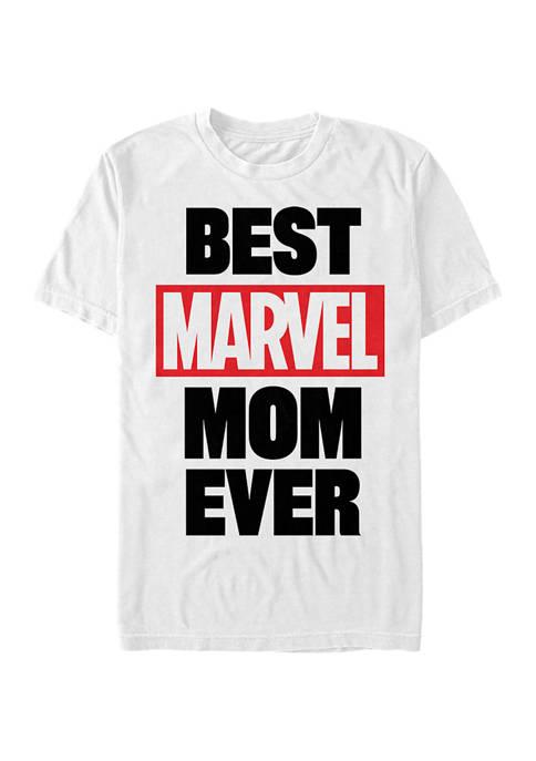 Marvel Best Mom Graphic Short Sleeve T-Shirt