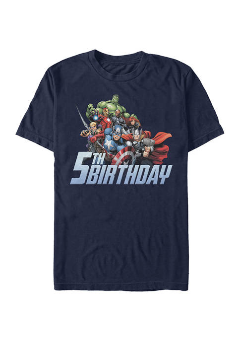 Marvel™ Avengers 5th Birthday Graphic Short Sleeve T-Shirt