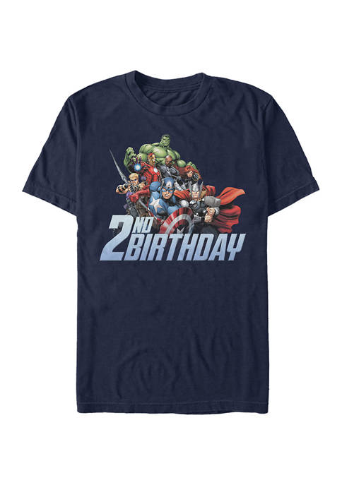 Marvel™ Avengers 2nd Birthday Graphic Short Sleeve T-Shirt