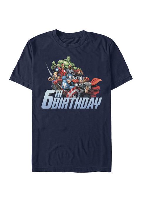 Marvel™ Avengers 6th Birthday Graphic Short Sleeve T-Shirt