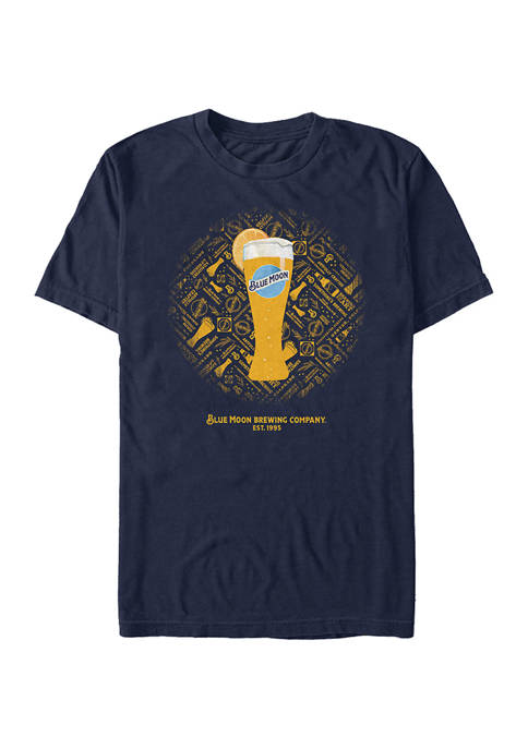 Miller Coors Brewing Company - Blue Moon Tall Glass Graphic Short Sleeve T-Shirt