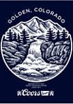 Golden Rocky Brew Graphic Crew Fleece Sweatshirt