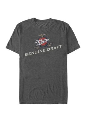 Fifth Sun Mens Miller Coors Brewing Company - Genuine Draft Graphic Short Sleeve T-Shirt