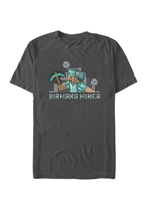 Minecraft Miner Steve Graphic T-Shirt