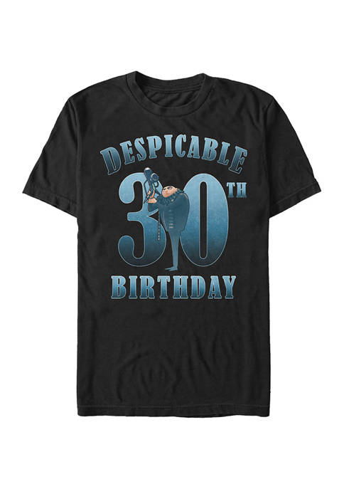 Minions Gru Birthday 30 Graphic Short Sleeve T-Shirt